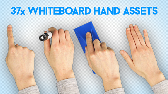 Whiteboard Hand Assets Female.