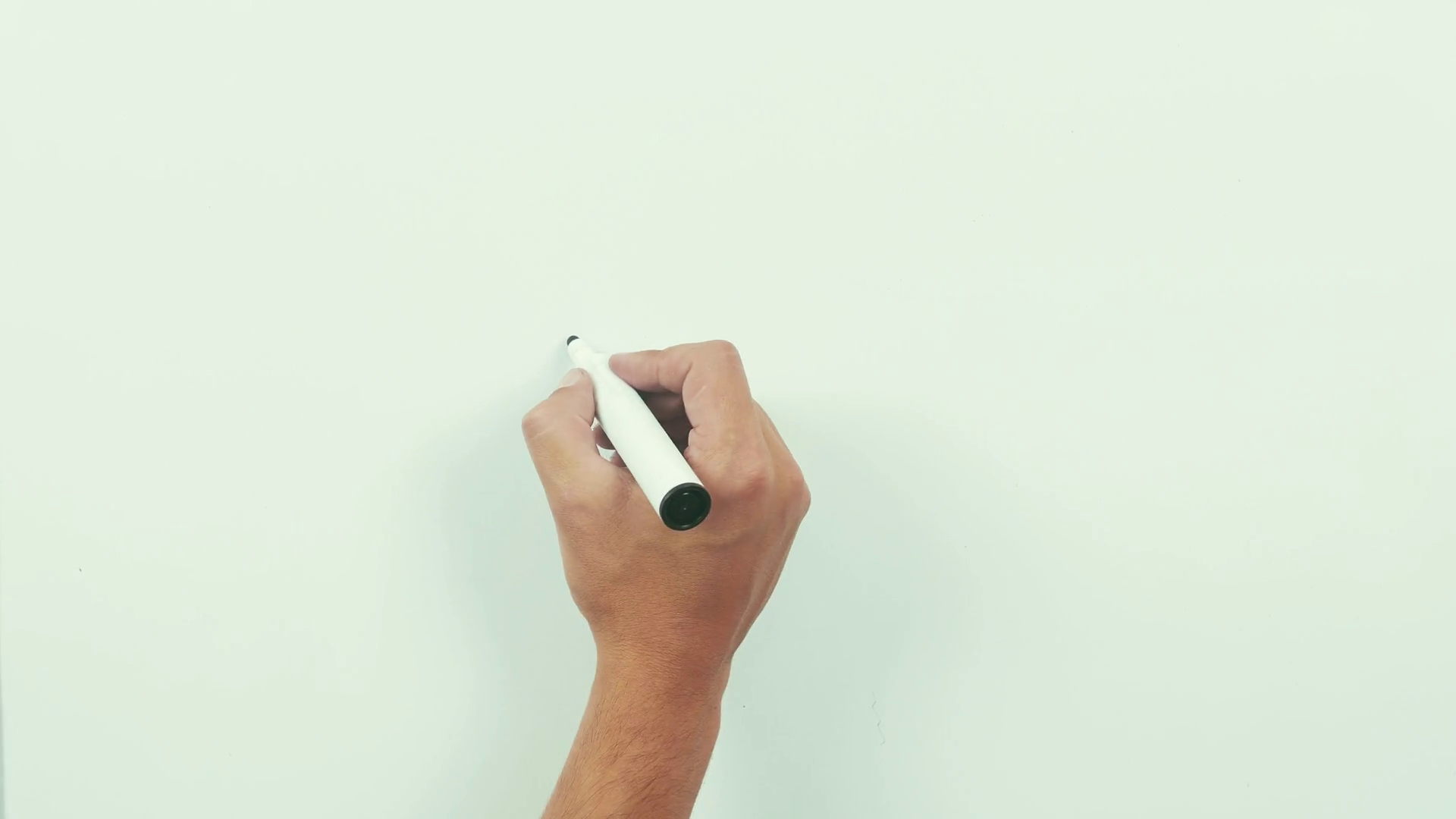 Drawing dollar sign. Black marker on whiteboard. Stock Video Footage.