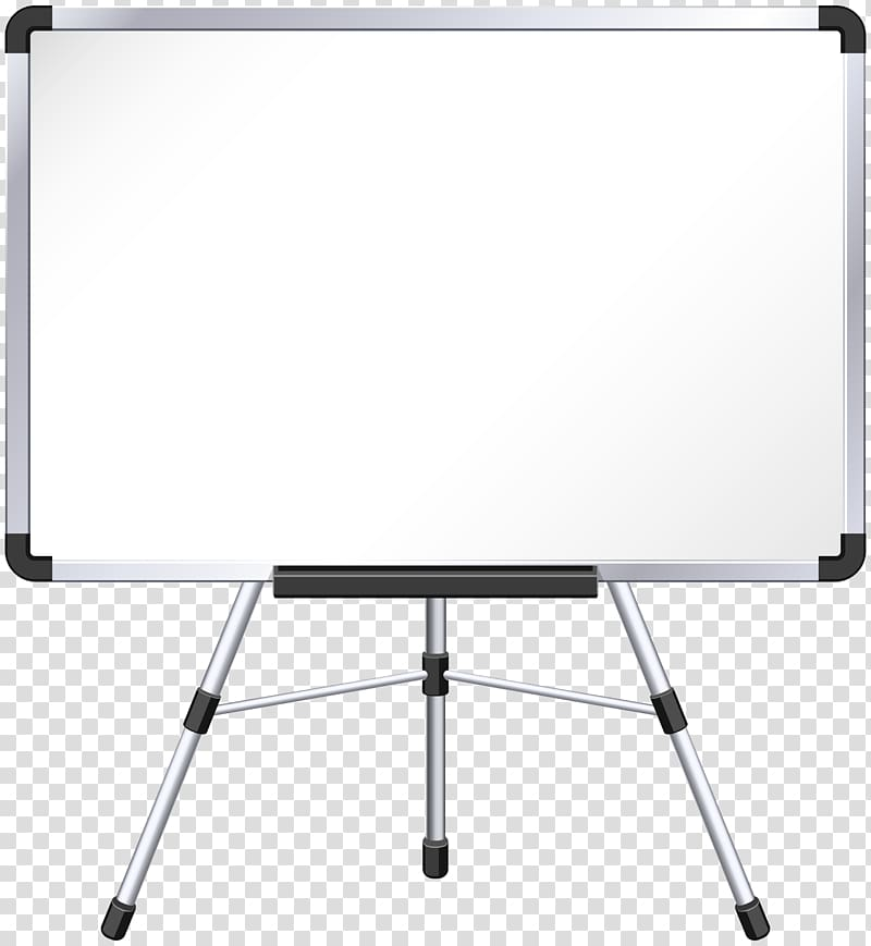 Table Rectangle Easel, Whiteboard , silver framed white.