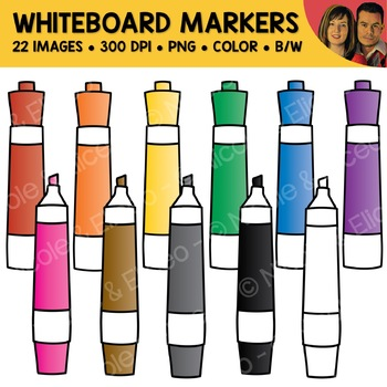 Whiteboard Markers Clipart.