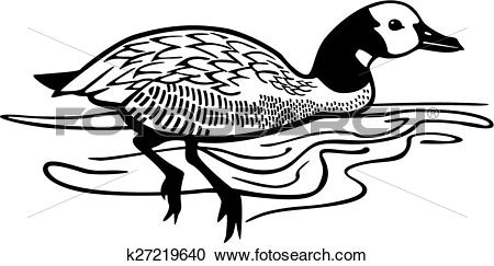 Clipart of White Faced Whistling Duck k27219640.