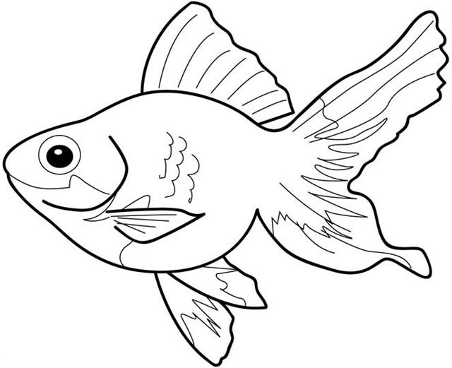 Black and White Fish Clipart.