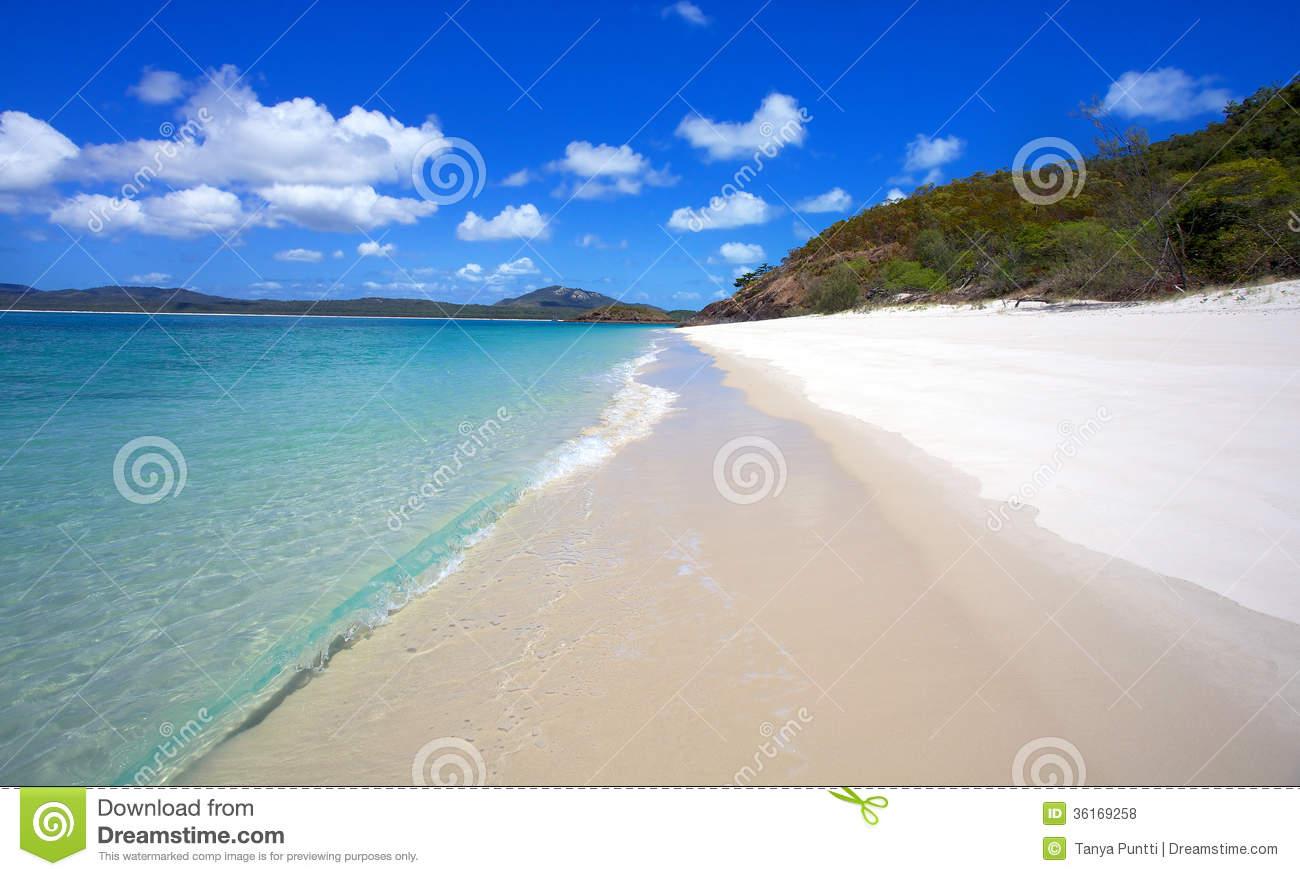 Whitehaven Beach Whitsundays Royalty Free Stock Photo.