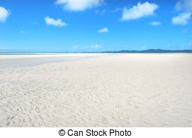 Stock Photography of Whitehaven beach in Australia.