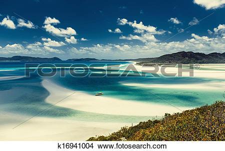Stock Photo of Whitehaven beach in Australia k16941004.