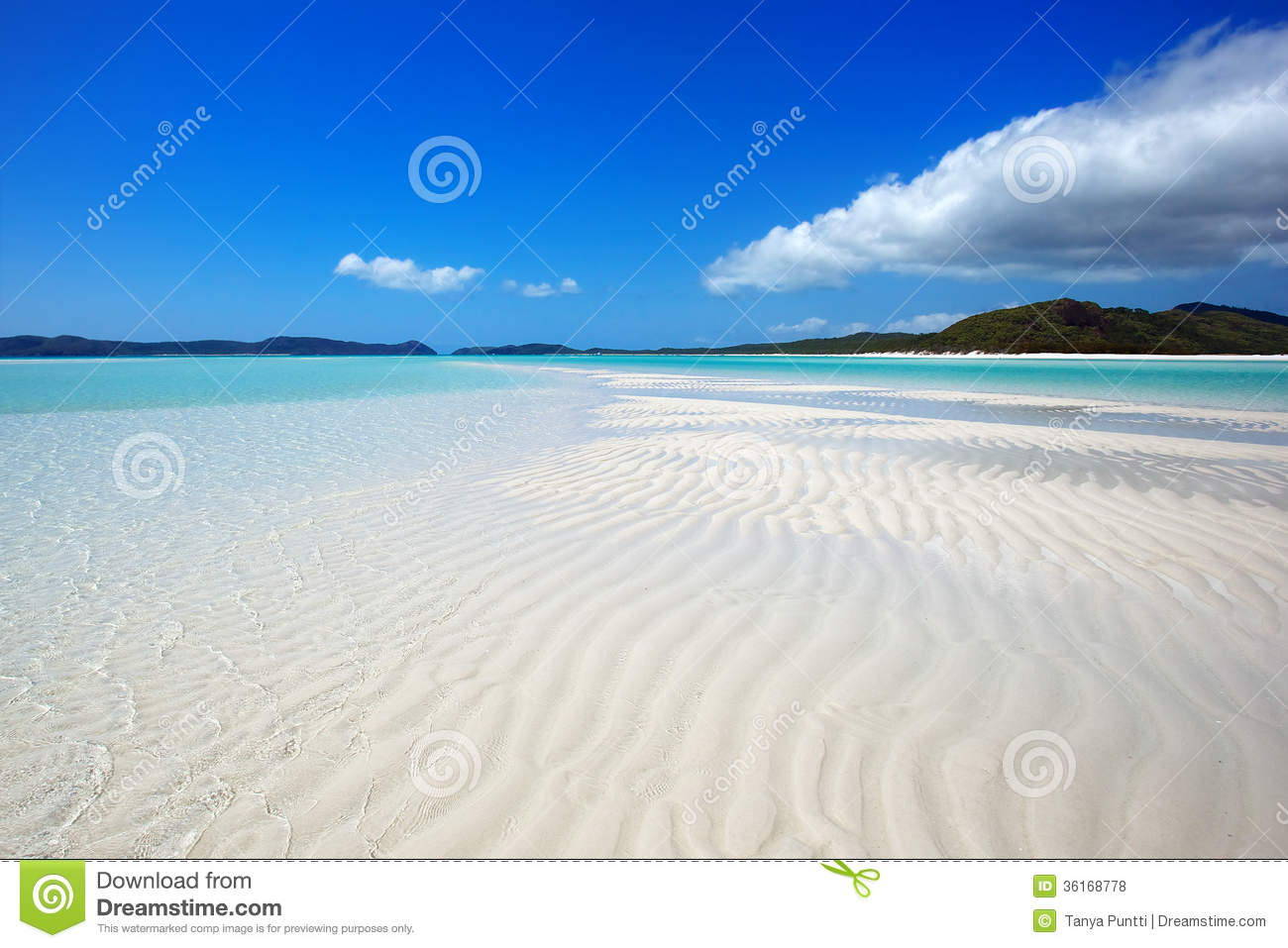 Whitehaven Beach Royalty Free Stock Images.