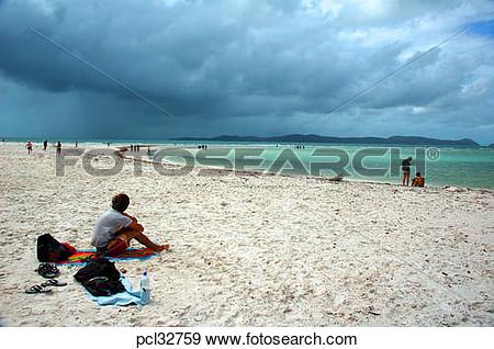 Whitehaven beach clipart.
