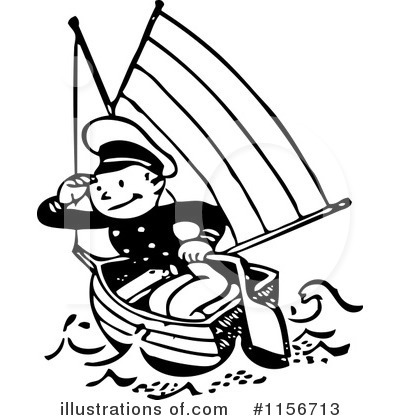 Sailor in whites clipart photo.