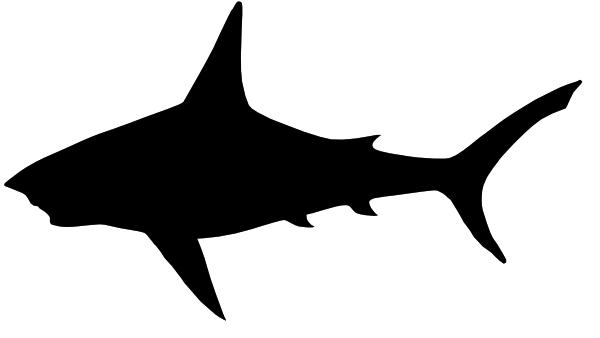 Shark Clip Art Black And White.