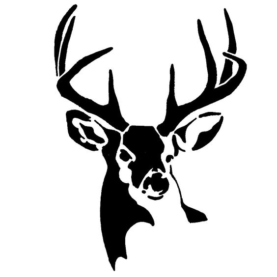 Whitetail Buck Deer Stencil.