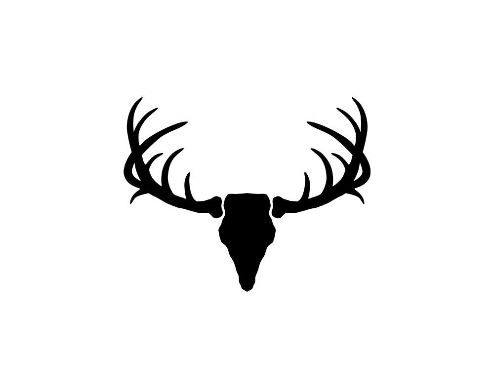 Free Mule Deer Antler Silhouette, Download Free Clip Art.