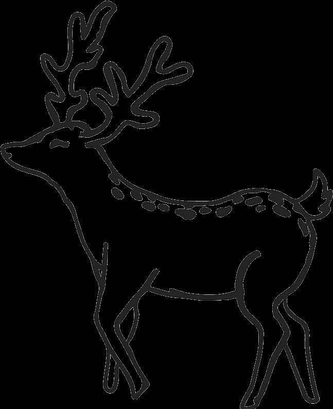 Buck Outline Buck Deer Rubber Stamp Outline Antler.