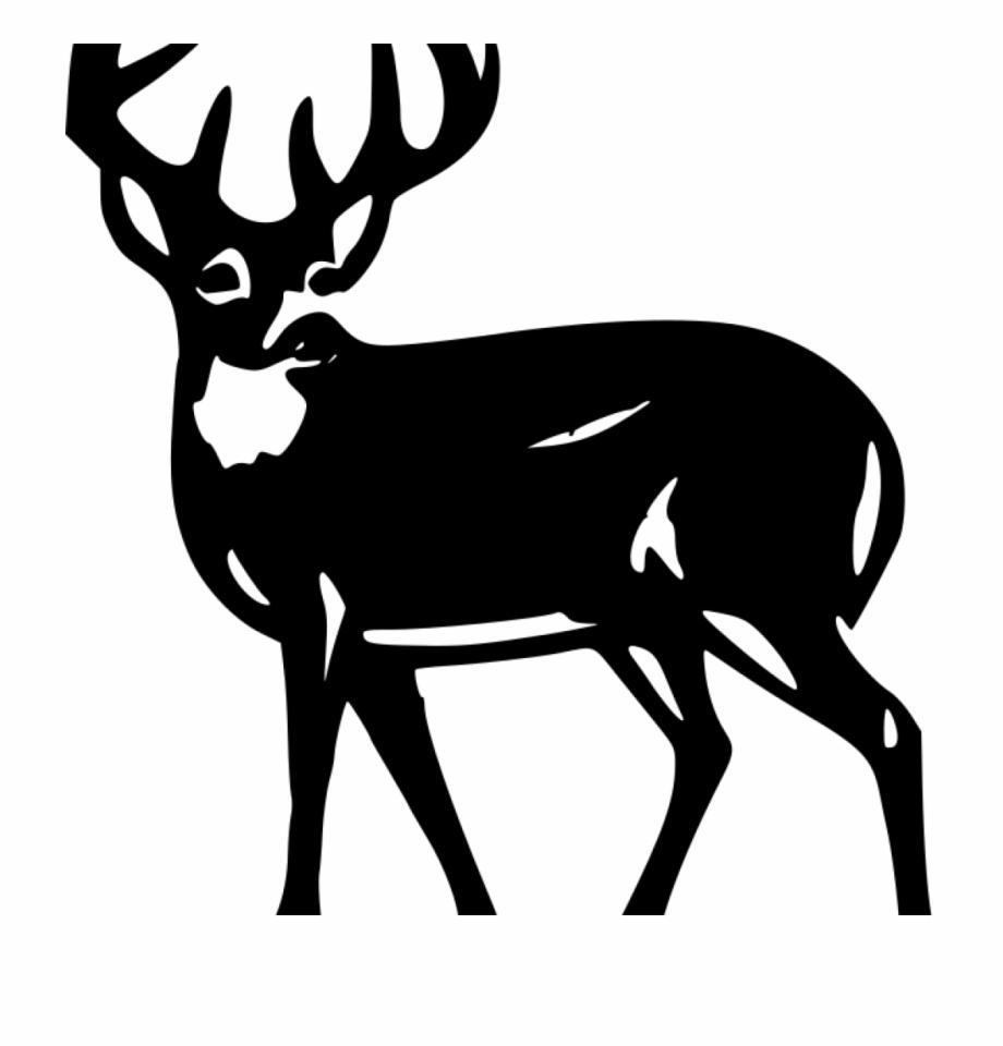 Deer Silhouette Clip Art White Deer Silhouette.