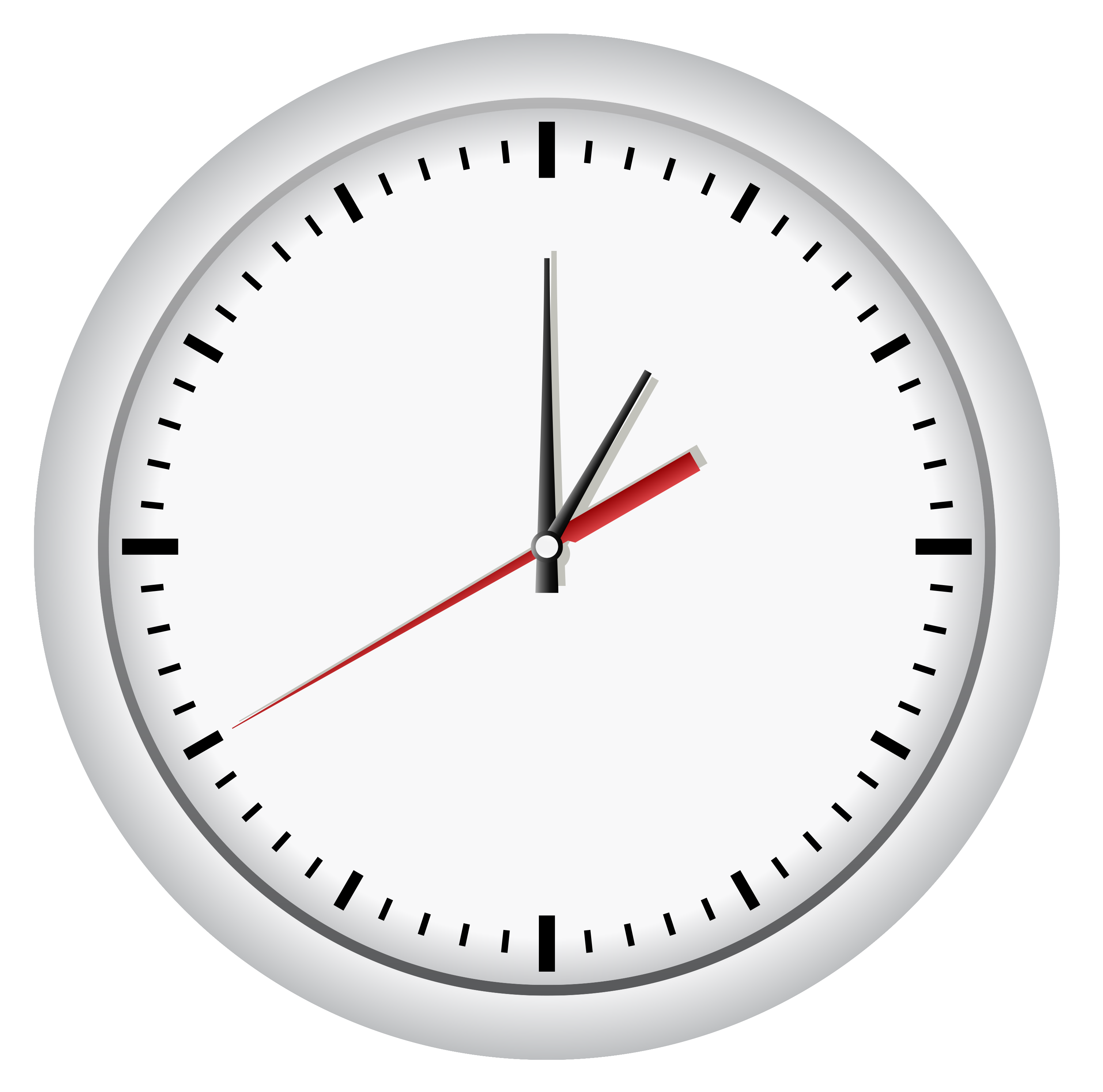 White Wall ClockPNG Clip Art.