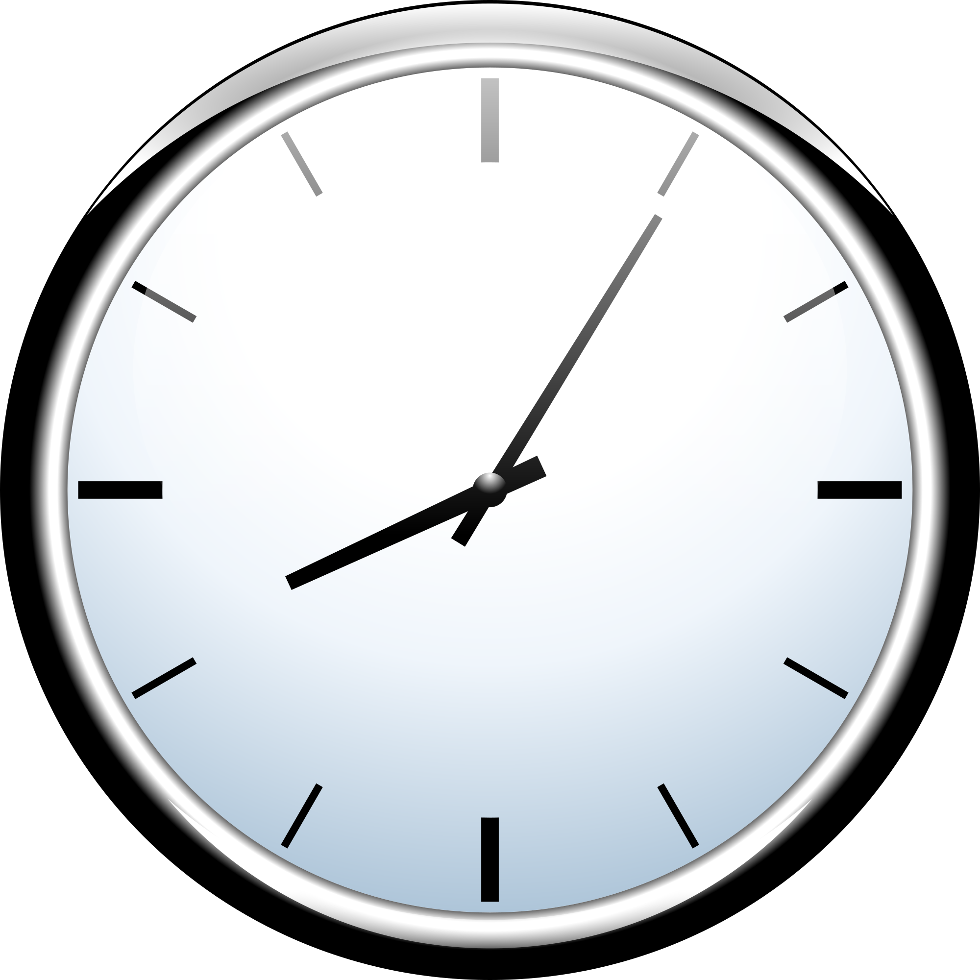 Free white wall clock clipart clipart image.
