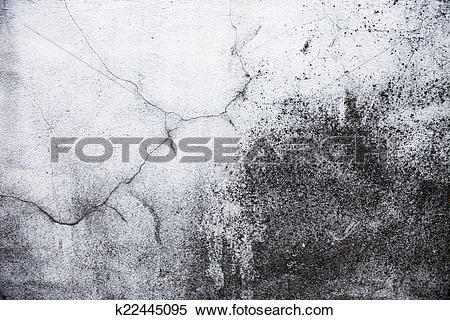 Stock Image of Whitewashed wall with rich and various texture.