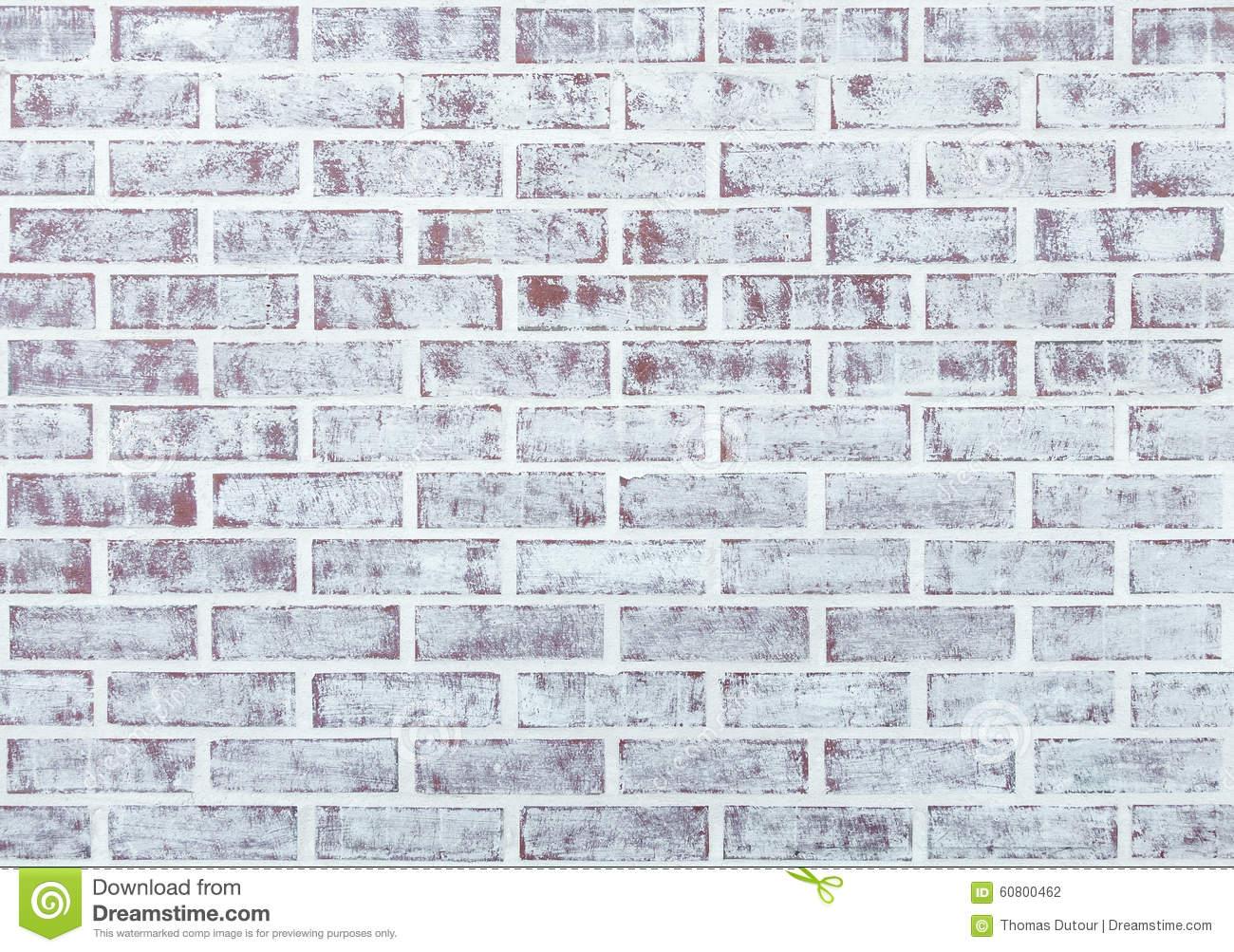 Aged Whitewashed Wall Stock Photo.
