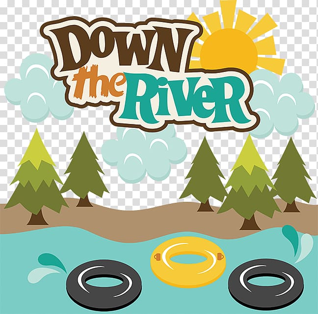 Down the River illustration, Tubing Rafting River , Tubing.