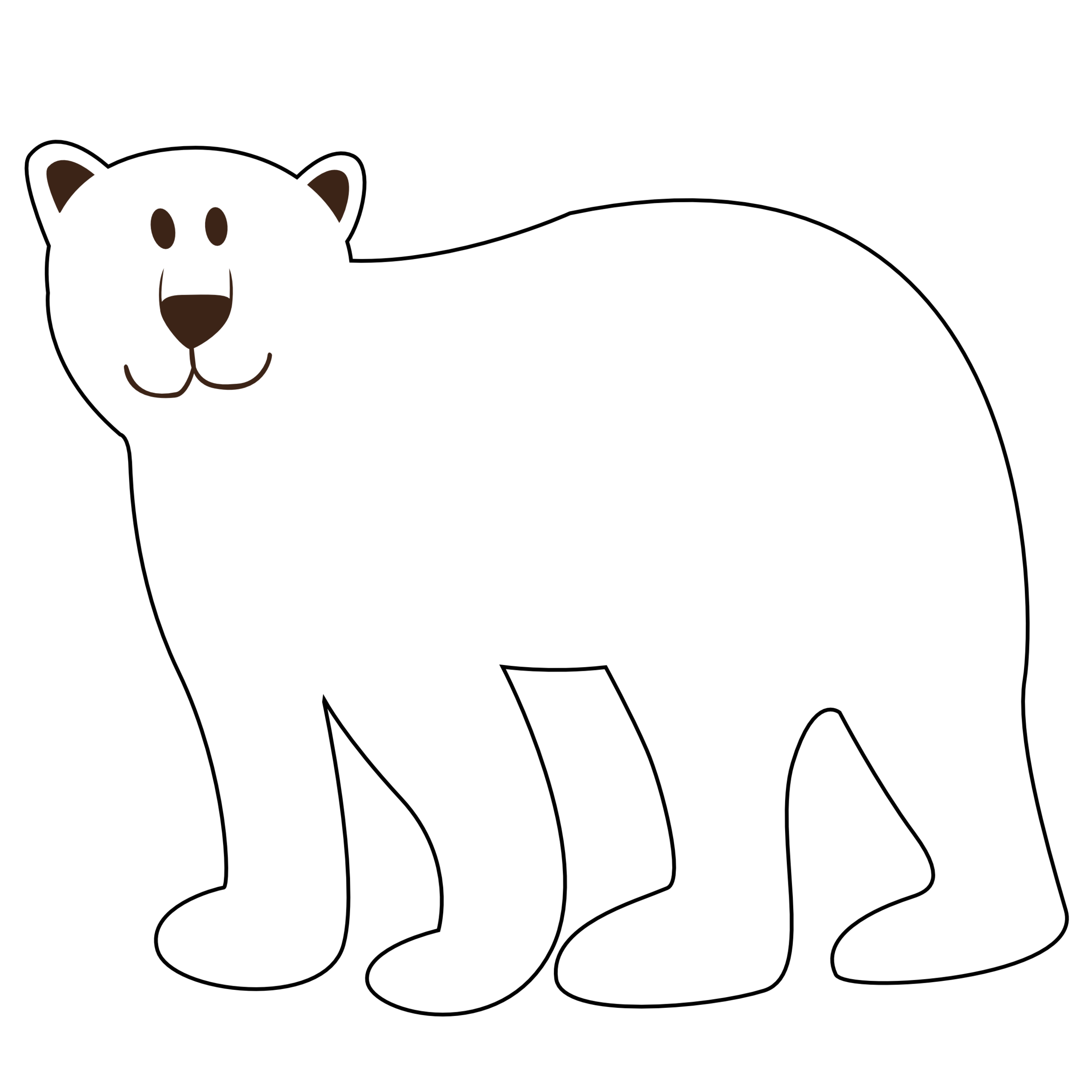 Bear Clipart Black And White & Bear Black And White Clip Art.