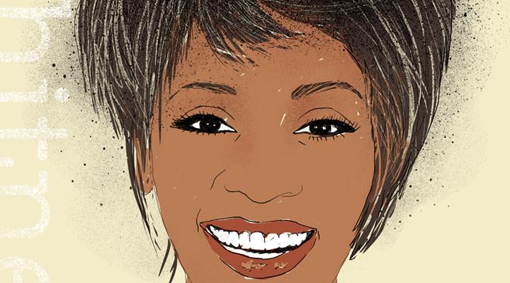 Portrait of Whitney Houston.