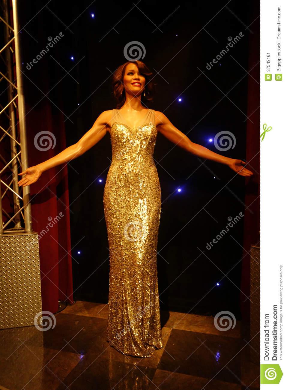 Whitney Houston Wax Figure Editorial Photo.