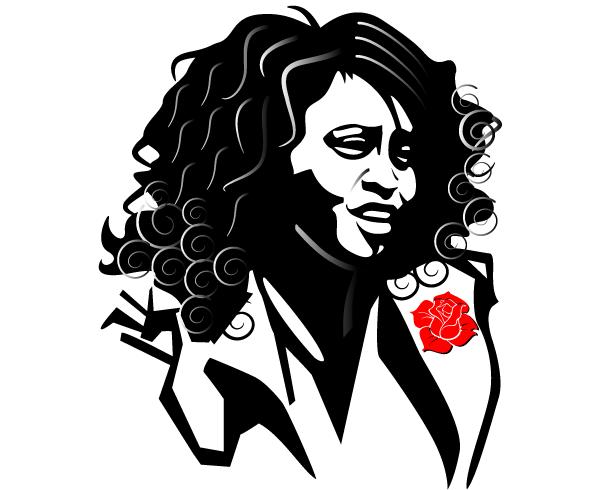 Whitney Houston Free Vector Image.