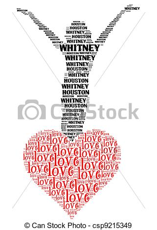Stock Photographs of rest in peace and love whitney houston.