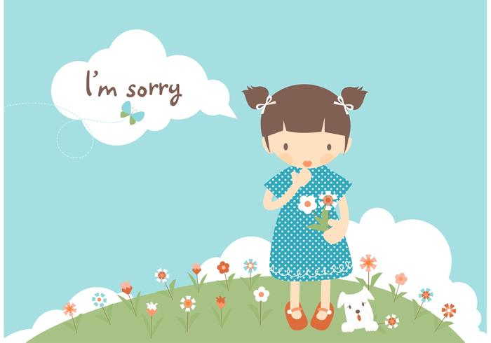 Free I\'m Sorry Card Vector.