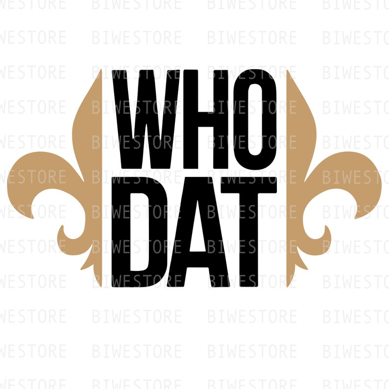 Who Dat Clipart.