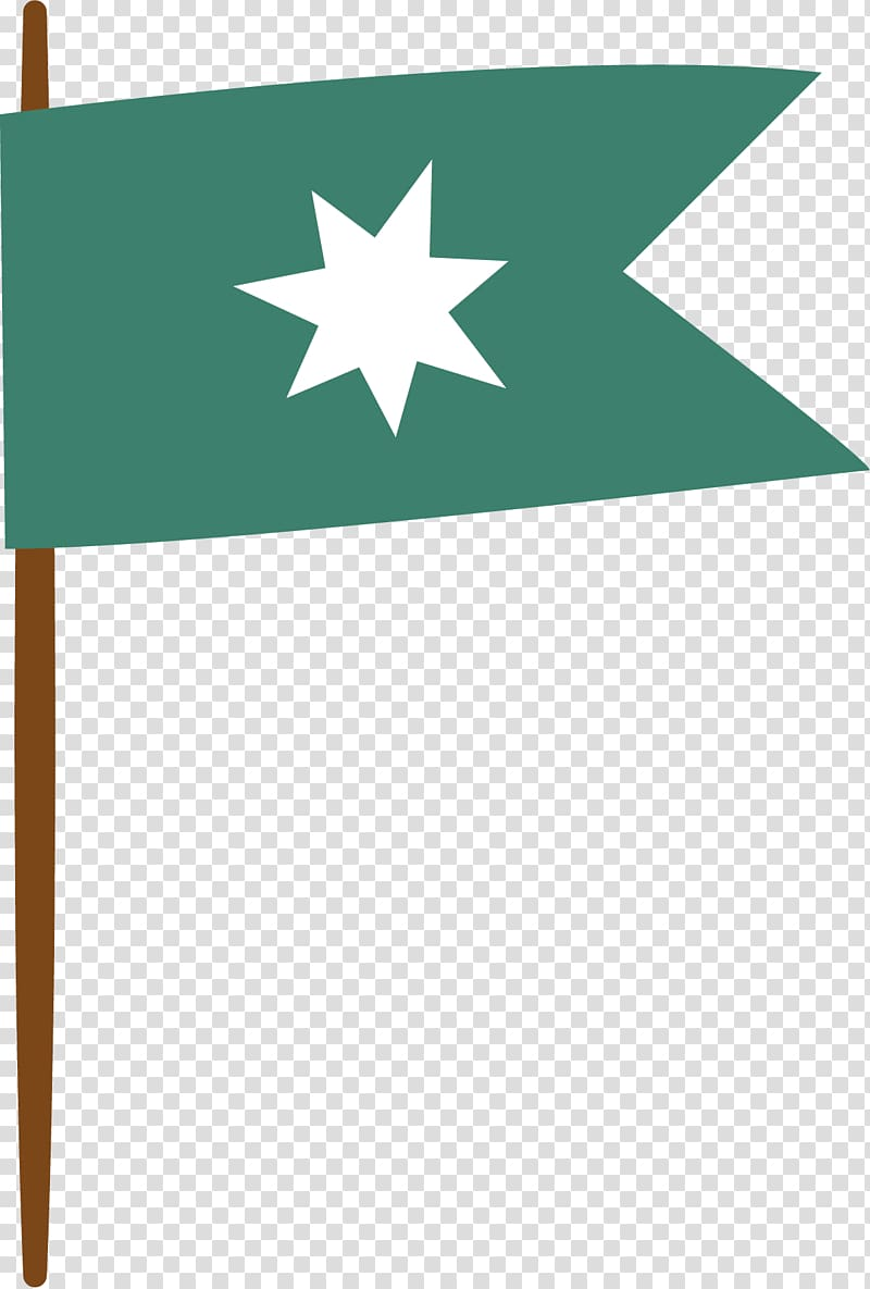 Designer, Hand painted green flag transparent background PNG.