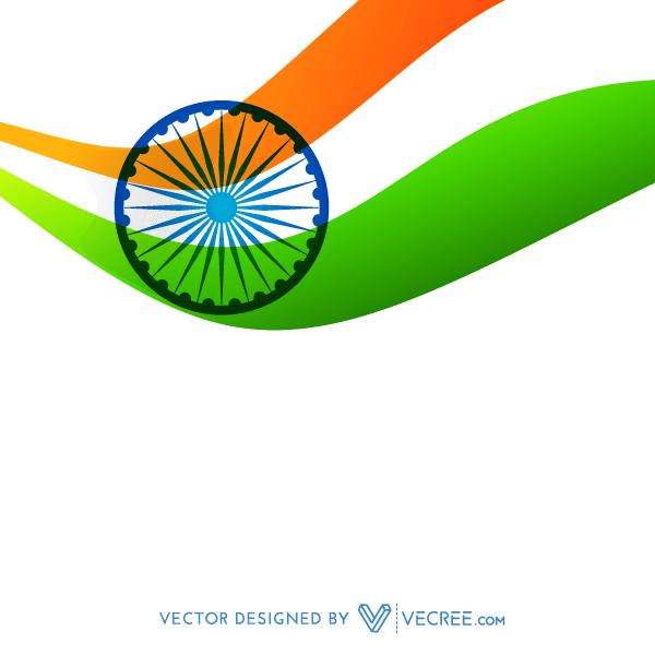 Indian Flag Design Vector.