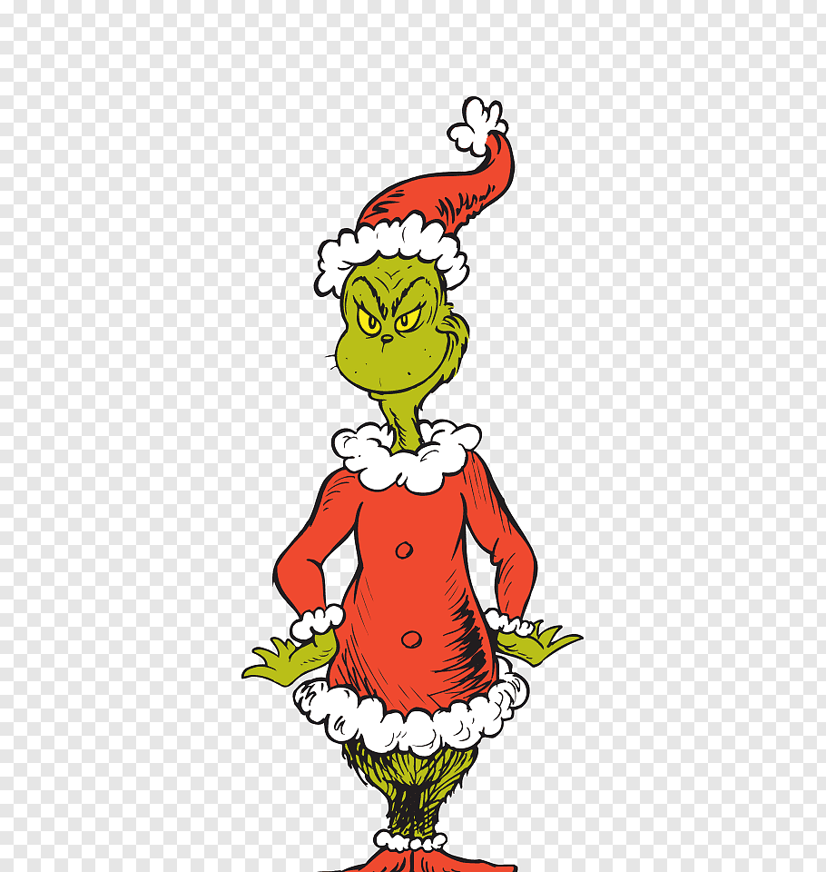 The Grinch art, How the Grinch Stole Christmas! Santa Claus.
