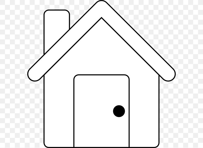 Gingerbread House Outline Clip Art, PNG, 600x601px.