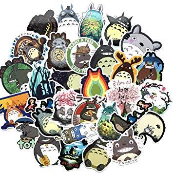 64PCS My Neighbor Totoro, Clear Stickers No.