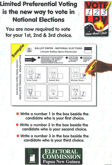 Papua New Guinea 2012 National Elections: June 2012.