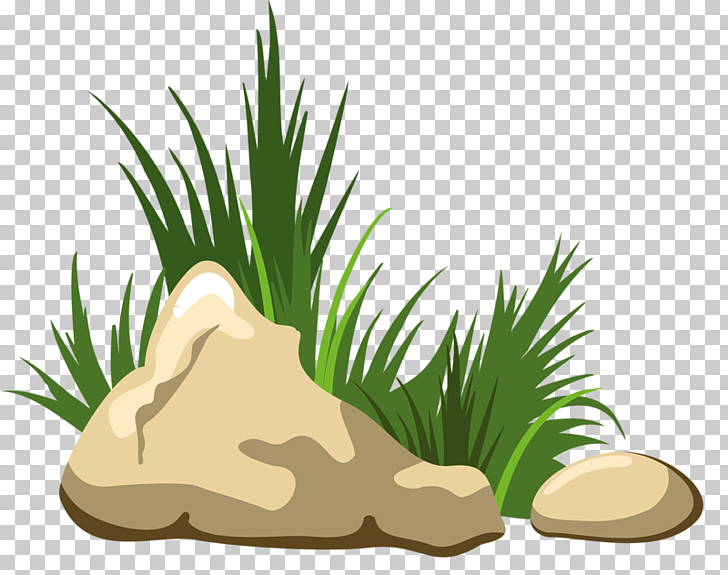 Rock , Grass stone, rocks beside grasses illustration PNG.
