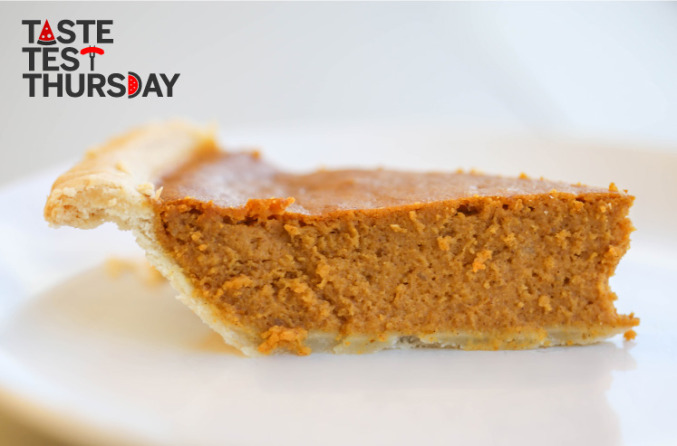 Taste Test Thursday: Pumpkin Pie.