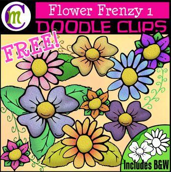 Flower Clipart FREEBIE.