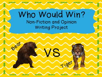 Do your students love the Who Would Win books by Jerry.