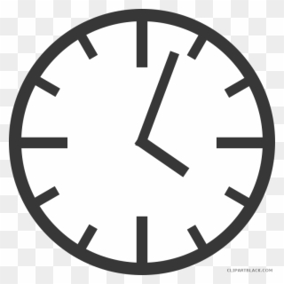 Graphic Library Black And White Clipart Clock.