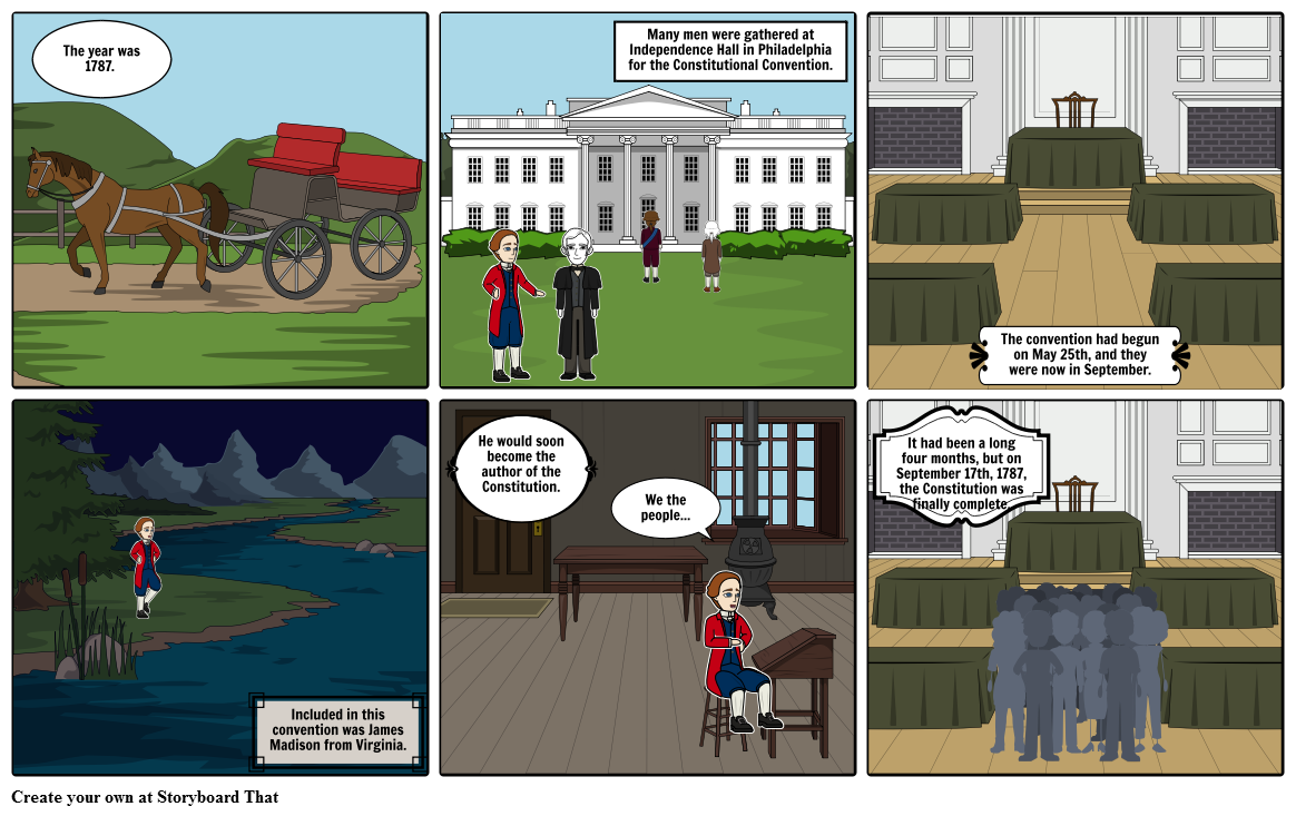 Who wrote the Constitution? Storyboard by kimmyam.