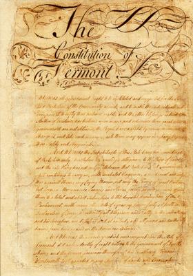 Constitution of Vermont (1777).