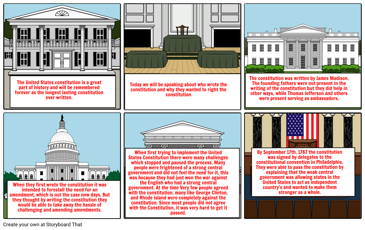 United States Constitution Storyboard by 99redbull99.