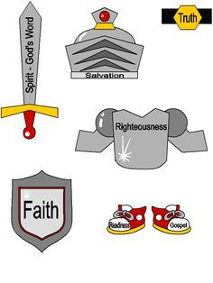whole armor of god clipart.