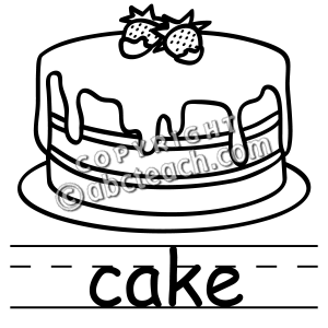 cake clip art black and white.