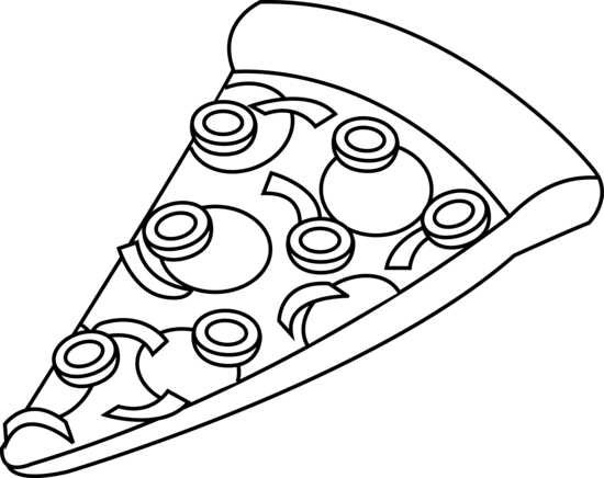 Best Pizza Clipart Black And White #6388.