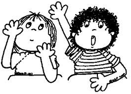 Whole Body Kids Clipart With Hands Up.
