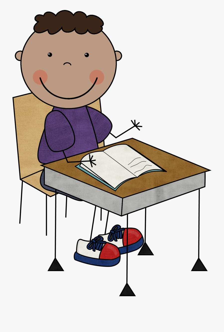 Child Writing Clipart.