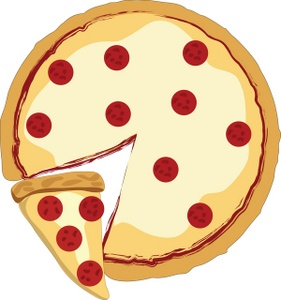 Whole Pizza Clipart.