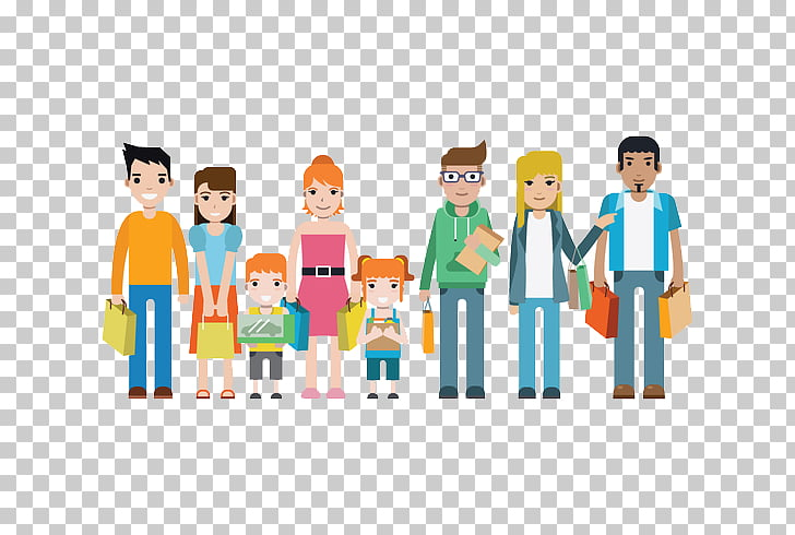 Family Shopping Art Illustration, Consumer rights go to the.